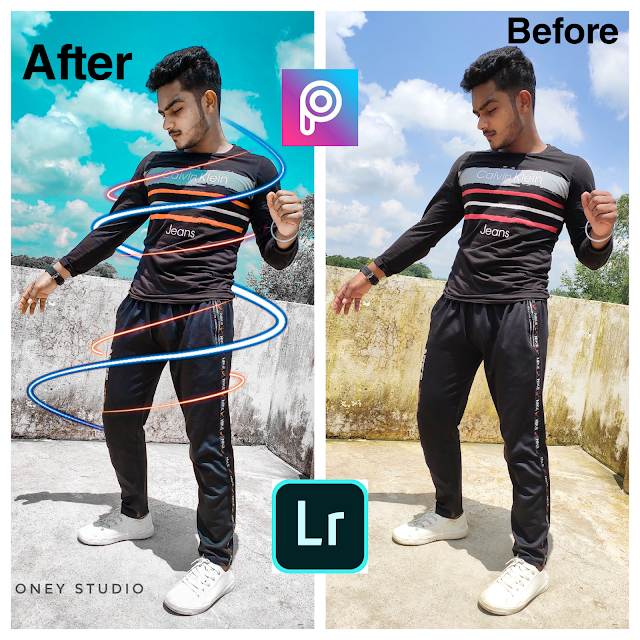 Mobile Photo Editing, Neon Light Effect Photo Editing, mobile photo editing 2019