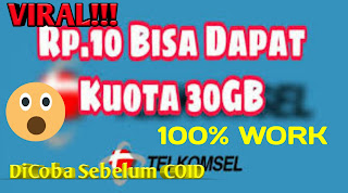Tutorial Tembak Telkomsel 30 Gb  100% Work