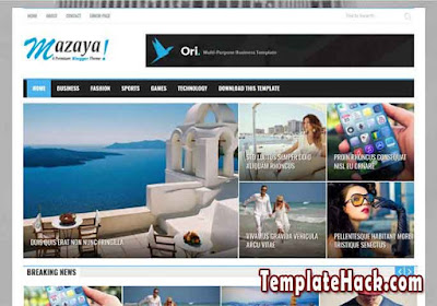 mazaya news blogger template