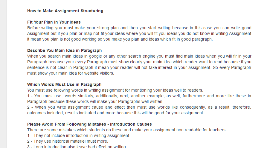 how to start writing an assignment