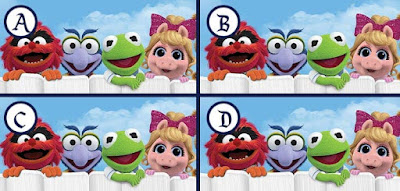 Figure: Everyone loves the Muppets! Which picture is different?