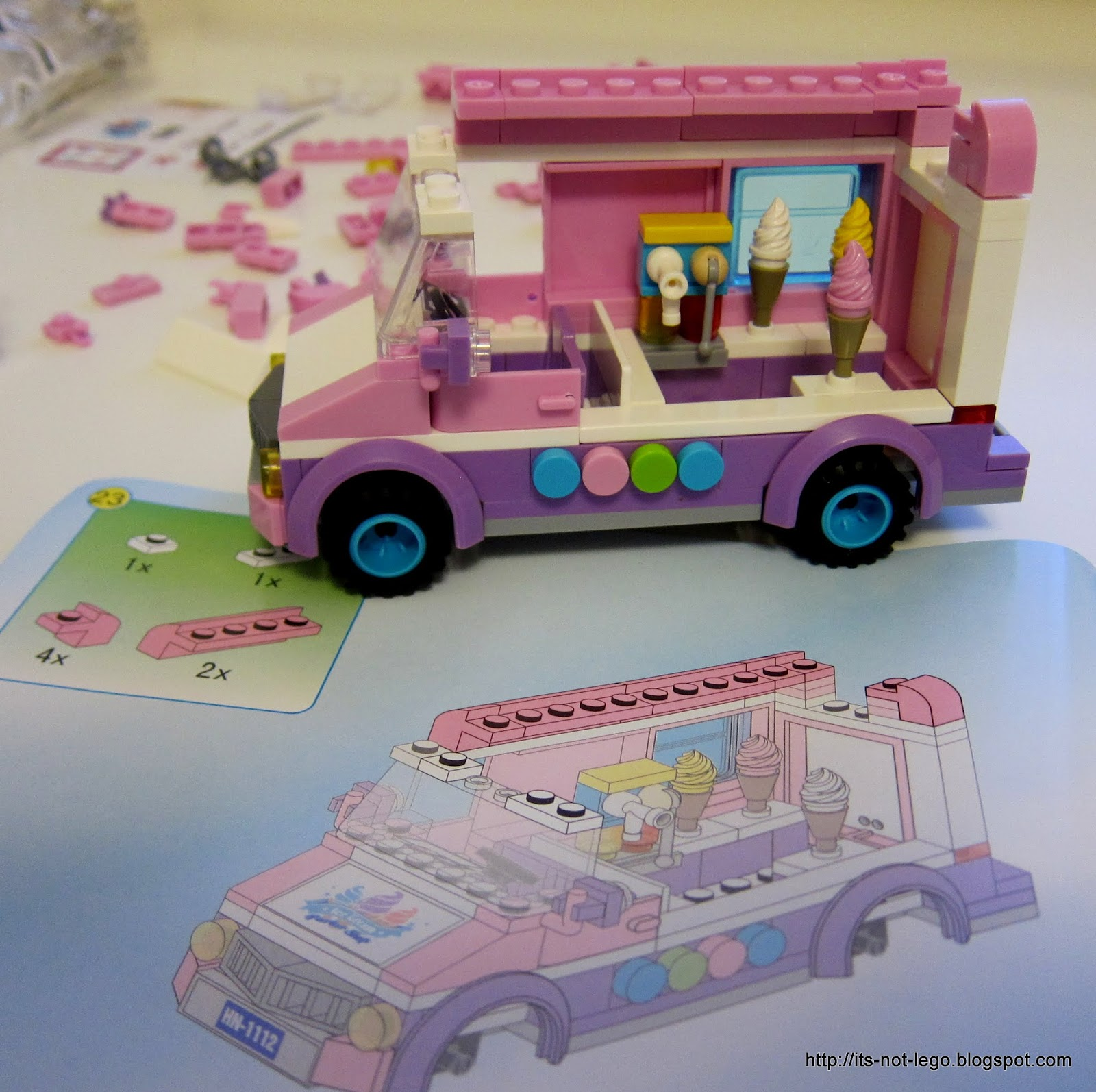 Its Not Lego Enlighten 1112 Ice Cream Truck Set Review