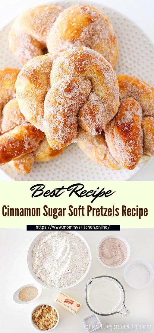 Cinnamon Sugar Soft Pretzels Recipe #desserts #cakerecipe #chocolate #fingerfood #easy
