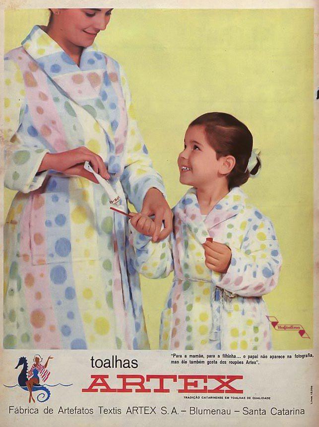Propaganda antiga das Toalhas Artex veiculada em 1964