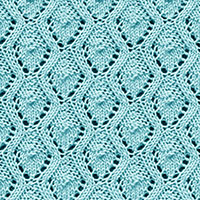 Eyelet Lace 64: Wave and Shield | Knitting Stitch Patterns.