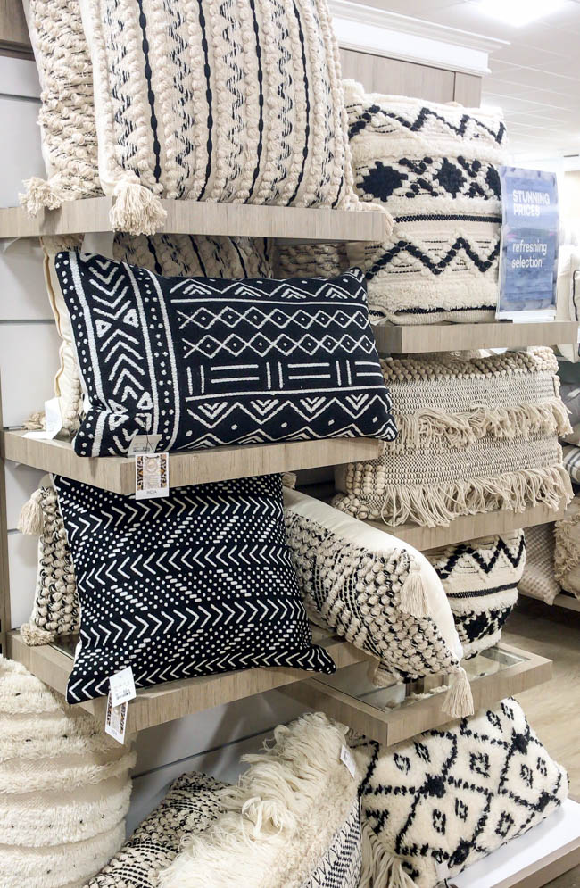 Textured and nubby throw pillows from HomeGoods