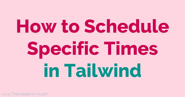 If you use Tailwind for Pinterest marketing, you're going to find this tutorial helpful. You'll get a write up and video explaining how to schedule specific times in Tailwind. With this tip, you'll quickly be able to add additional pins into your queue when you realized you forgot something and you're already done pinning for a specified time period. Or you can add pins to specific boards that have more rigid rules. Click through now to learn more!