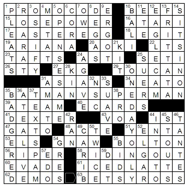 Not Your In Tours Crossword