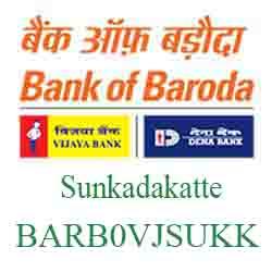 Vijaya Baroda Bank Sunkadakatte‐Bangalore Branch New IFSC, MICR