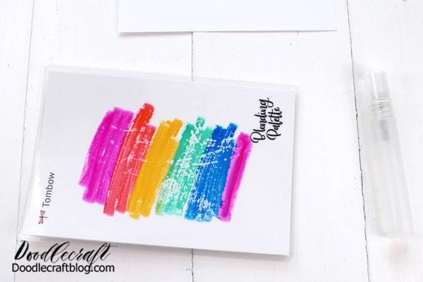 Start by scribbling the Dual Brush Pens on the Blending Palette.