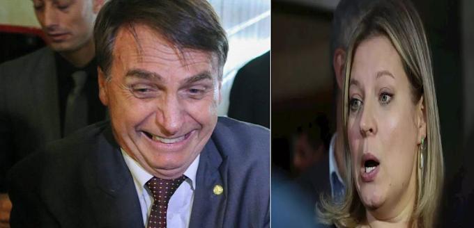 """Ala bivarista do PSL quer lançar Joice à Presidência contra Bolsonaro, """"Deixe sua risada"""""""