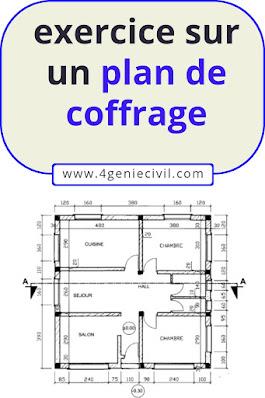 plan coffrage dessin batiment examen td ofppt maroc
