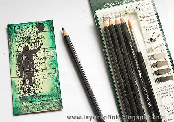 Layers of ink - Pistachio Wall Hanger Tutorial by Anna-Karin
