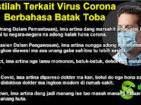 Arti Istilah ODP, PDP, Lockdown Dalam Bahasa Batak Toba