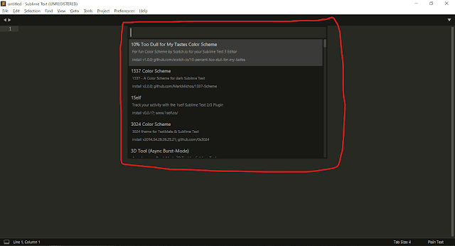 Sublime Text3 Package Control | Screenshot