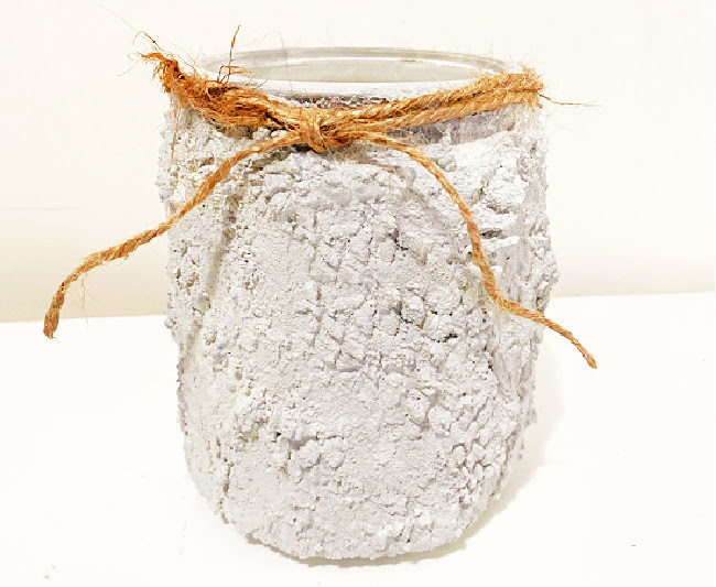Faux Cement Recycled Jars