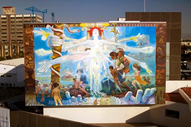 """Similia Similibus Curentur"" New Street Art Mural By Mexican Artist Dhear in Mexico DF. 1"