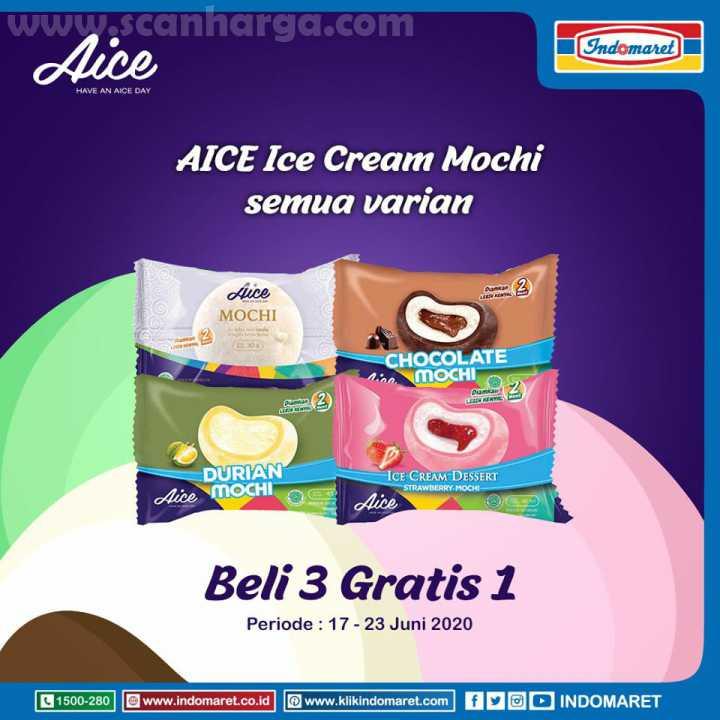 Promo Indomaret Beli 3 Gratis 1! AICE Ice Cream Mochi Semua Varian