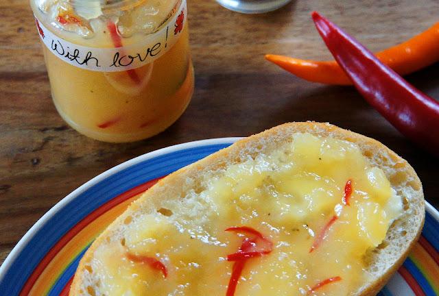Ananas-Bananen-Marmelade mit Chili - Rezept von Jeanette Marquis
