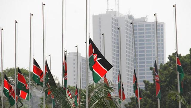 Kenya, Tanzania, Uganda and Rwanda flags to flown at half mast.