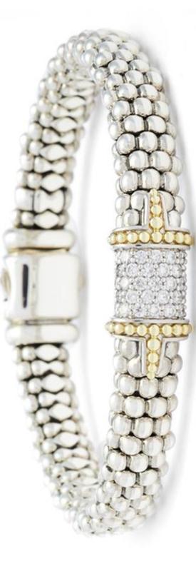 Lagos Diamond & Caviar Square Bracelet