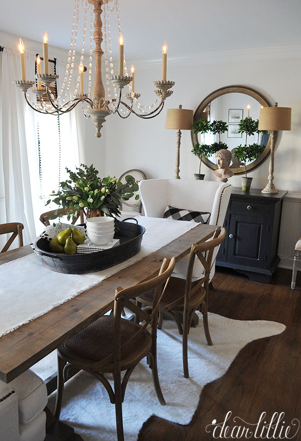 Dear lillie birch lane dining room refresh for Dining room centerpieces