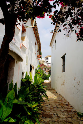 Wąska uliczka w Andaluzji.