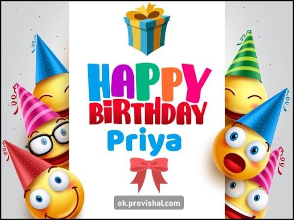 Happy Birthday Priya Cake, Images and Wishes