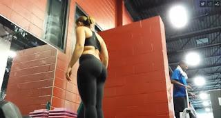 blonde big ass gym