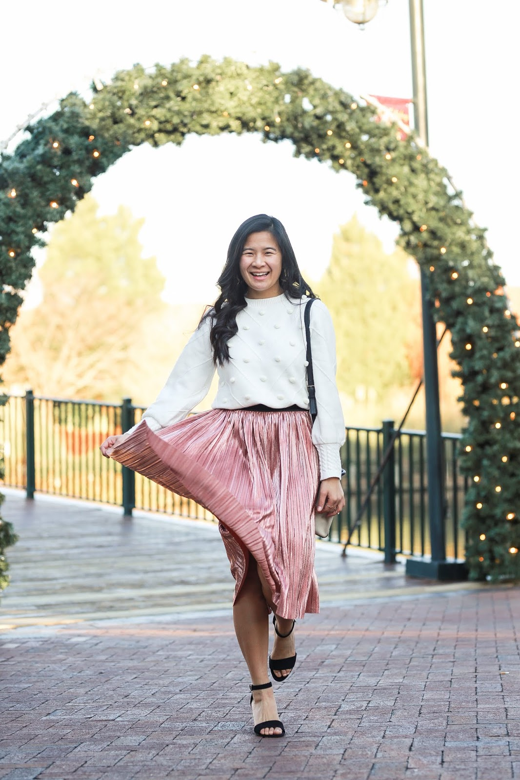 how to style a midi skirt for the holidays