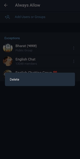 Add or delete users