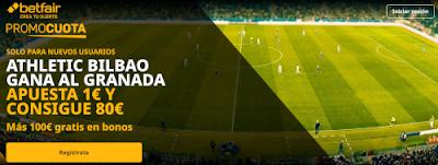 betfair supercuota Athletic gana Granada 11 septiembre 2020