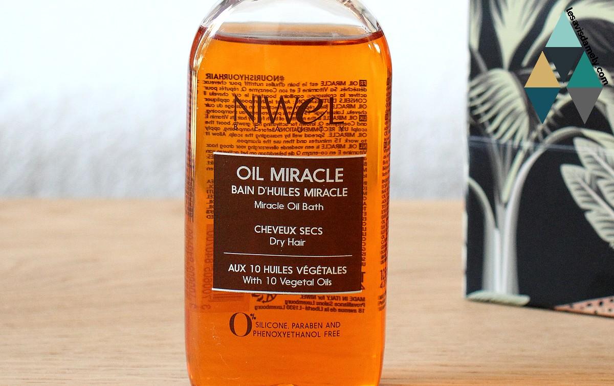 avis et test bain d'huiles oil miracle huiles végétales naturelles niwel
