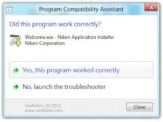 Nikon 的免費影像軟體 ViewNX 2,強迫安裝就對了。