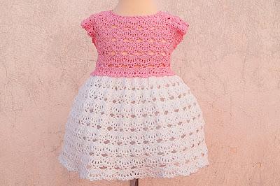 2 - Crochet Imagen Falda a crochet y ganchillo canesú rosa por Majovel Crochet