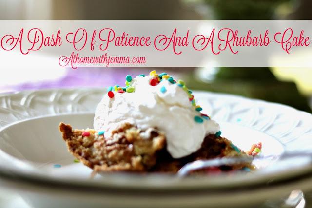 homemaking, baking, recipe, cake, rhubarb, easy, dessert, Spring