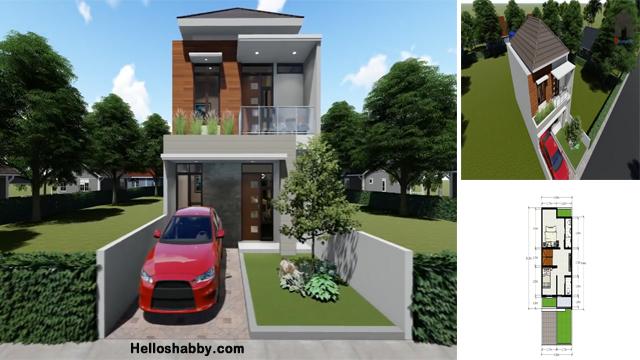 Desain Dan Denah Rumah Minimalis 6 X 14 M Dengan 3 Kamar Tidur 2 Lantai Yang Elegan Dan Super Nyaman Helloshabby Com Interior And Exterior Solutions