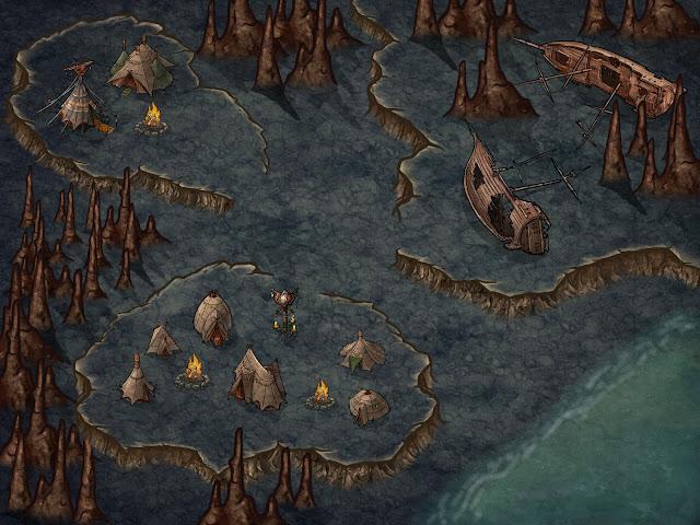 Seis mapas para tus partidas de rol - Caverna Costera