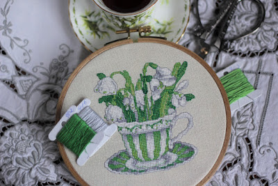 vermillion stitchery,vermillion stitchery snowdrops, vermillion stitchery подснежники