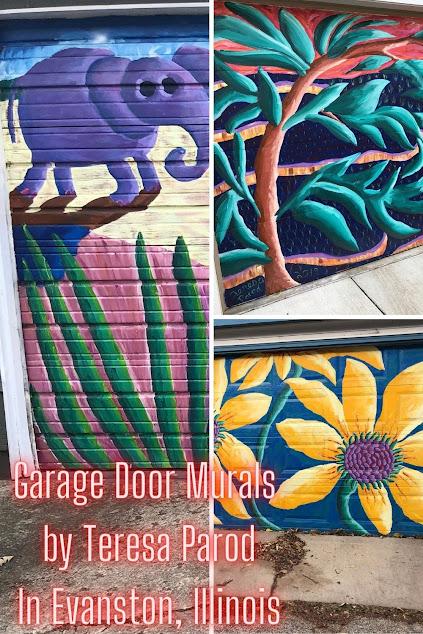 Outdoor Art Gallery in Evanston: Admiring the Garage Door Murals of Artist Teresa Parod