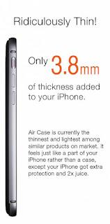 Air Case, Powerbank iPhone Tertipis Hanya 3,8 Milimeter