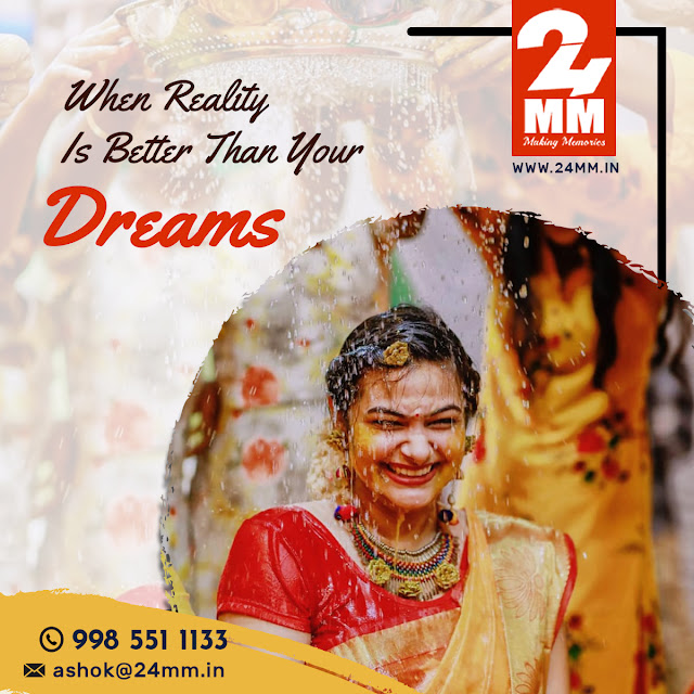 No1 wedding photographers in Hyderabad|24MMPhotography & videography