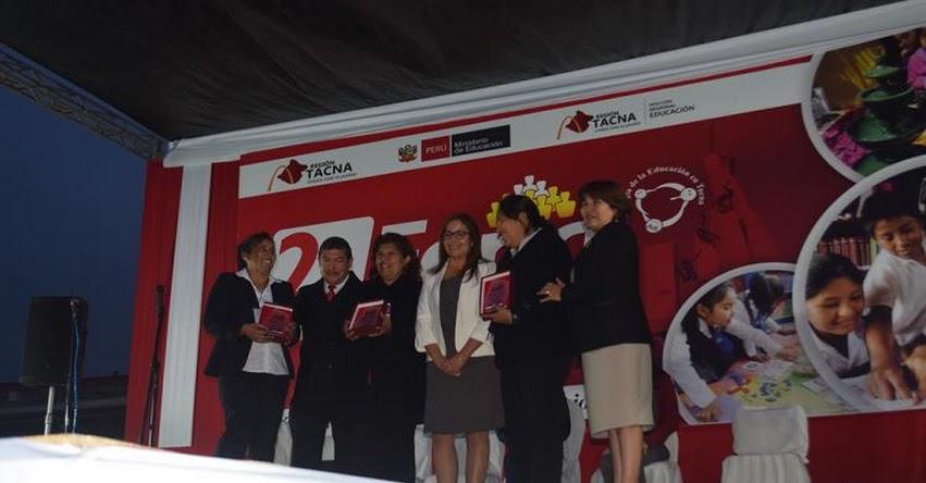 Cerca de 800 maestros de la DRE Tacna fueron reconocidos en la Segunda Feria Internacional del Buen Desempeño Docente 2017