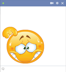 Embarrassed Facebook smiley looking so ashamed
