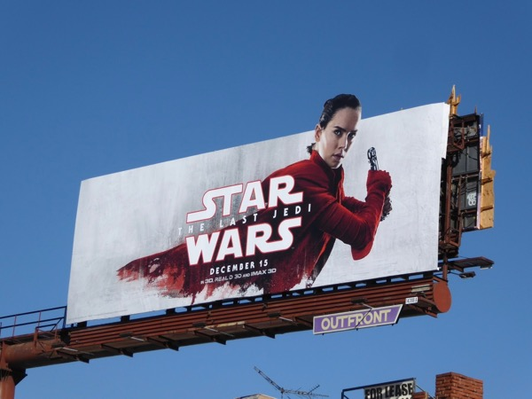 Star Wars Last Jedi Rey billboard