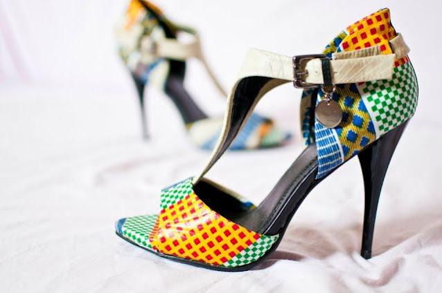 Chaussure, art, Beauté, mode, tendance, élégance, wax, tissu, pagne, femme, noire, multi, couleur, Sandales, espadrilles, style, ethnique, LEUKSENEGAL, Dakar, Sénégal, Afrique