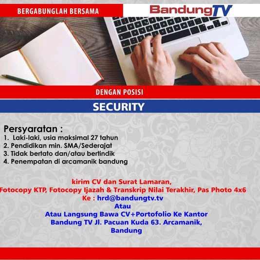 Lowongan Kerja Padamelan Bandung Tv Lulusan Sma Smk 2021