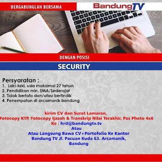 Lowongan kerja Bandung TV