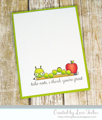 Take Note card-designed by Lori Tecler/Inking Aloud-stamps from Reverse Confetti