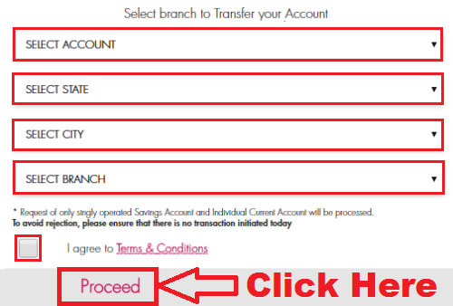 how to transfer home branch in axis bank online